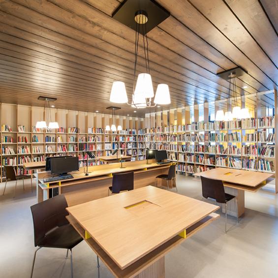Studio Rémi Bouhaniche : Bibliothèque Gérard Pelisson de l'Institut Paul Bocuse
