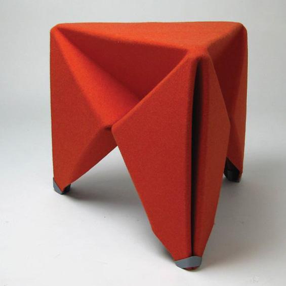 Brett Mellor : Felt Folding Stool