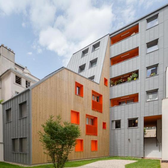 Vous Êtes Ici Architectes : 11 logements sociaux à Paris