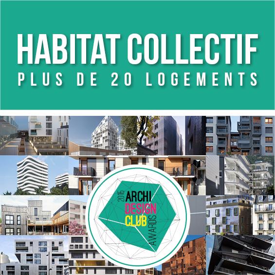 ArchiDesignClub Awards 2015 : Les projets de la Catégorie Habitat Collectif de plus de 20 logements 2/3
