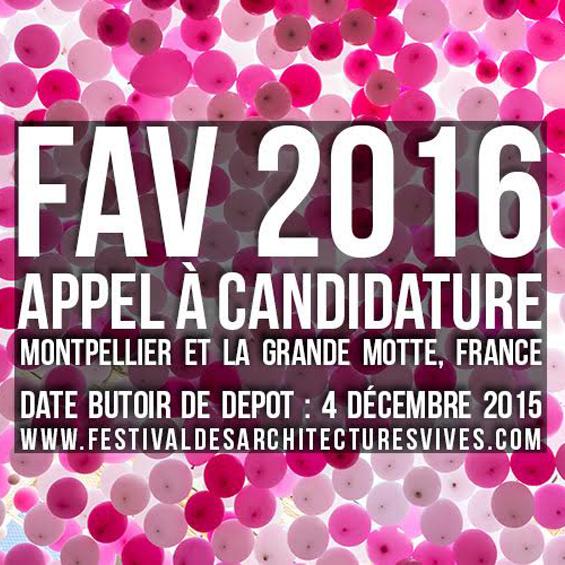 Festival des Architectures Vives 2016 : appel à candidature
